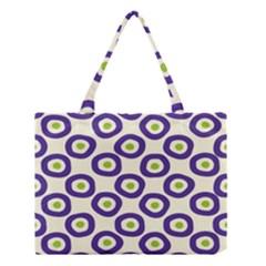Circle Purple Green White Medium Tote Bag by Alisyart