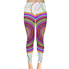 Abstract Spiral Circle Rainbow Color Leggings  by Alisyart
