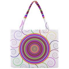 Abstract Spiral Circle Rainbow Color Mini Tote Bag by Alisyart