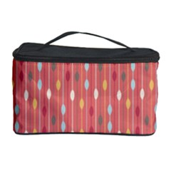 Circle Red Freepapers Paper Cosmetic Storage Case by Alisyart