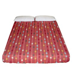Circle Red Freepapers Paper Fitted Sheet (california King Size) by Alisyart