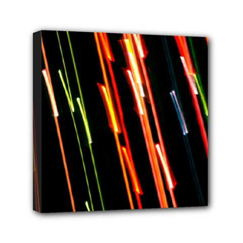 Colorful Diagonal Lights Lines Mini Canvas 6  X 6  by Alisyart