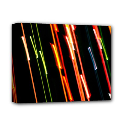 Colorful Diagonal Lights Lines Deluxe Canvas 14  X 11  by Alisyart