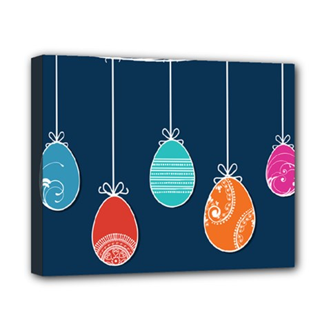 Easter Egg Balloon Pink Blue Red Orange Canvas 10  X 8  by Alisyart