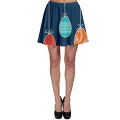 Easter Egg Balloon Pink Blue Red Orange Skater Skirt by Alisyart