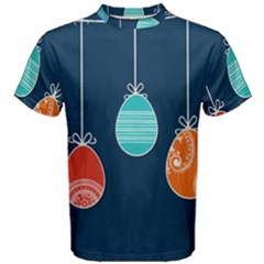 Easter Egg Balloon Pink Blue Red Orange Men s Cotton Tee