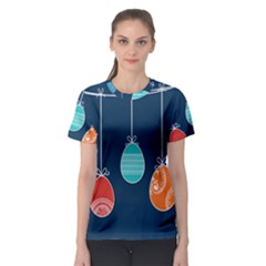 Easter Egg Balloon Pink Blue Red Orange Women s Sport Mesh Tee by Alisyart