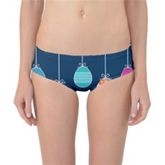 Easter Egg Balloon Pink Blue Red Orange Classic Bikini Bottoms