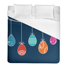 Easter Egg Balloon Pink Blue Red Orange Duvet Cover (full/ Double Size) by Alisyart
