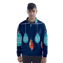 Easter Egg Balloon Pink Blue Red Orange Wind Breaker (men) by Alisyart