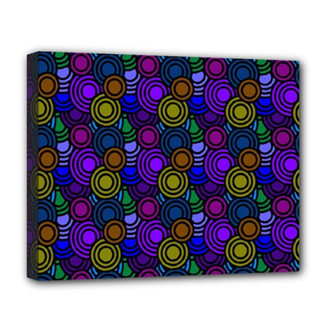 Circles Color Yellow Purple Blu Pink Orange Deluxe Canvas 20  X 16   by Alisyart