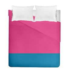 Flag Color Pink Blue Duvet Cover Double Side (full/ Double Size) by Alisyart