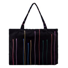 Falling Light Lines Color Pink Blue Yellow Medium Tote Bag by Alisyart