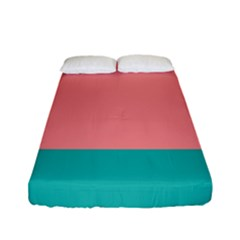 Flag Color Pink Blue Line Fitted Sheet (full/ Double Size) by Alisyart