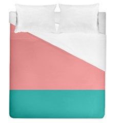 Flag Color Pink Blue Line Duvet Cover (queen Size) by Alisyart