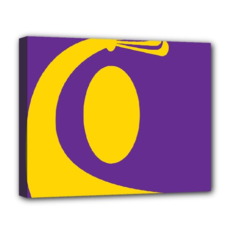Flag Purple Yellow Circle Deluxe Canvas 20  X 16   by Alisyart