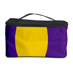 Flag Purple Yellow Circle Cosmetic Storage Case by Alisyart
