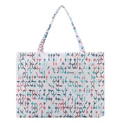 Connect Dots Color Rainbow Blue Red Circle Line Medium Tote Bag by Alisyart