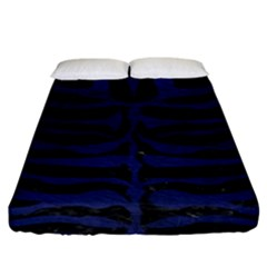Skin2 Black Marble & Blue Leather Fitted Sheet (king Size) by trendistuff