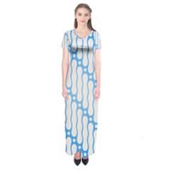 Batik Pattern Short Sleeve Maxi Dress by Simbadda