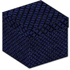 Circles3 Black Marble & Blue Leather (r) Storage Stool 12  by trendistuff