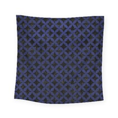 Circles3 Black Marble & Blue Leather Square Tapestry (small) by trendistuff