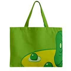 Food Egg Minimalist Yellow Green Mini Tote Bag by Alisyart