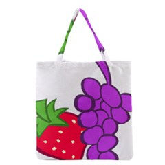 Fruit Grapes Strawberries Red Green Purple Grocery Tote Bag by Alisyart