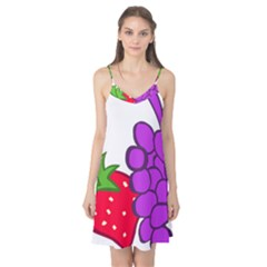 Fruit Grapes Strawberries Red Green Purple Camis Nightgown by Alisyart