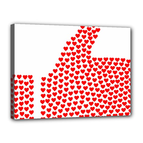 Heart Love Valentines Day Red Sign Canvas 16  X 12  by Alisyart