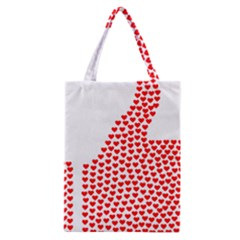Heart Love Valentines Day Red Sign Classic Tote Bag by Alisyart