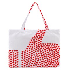 Heart Love Valentines Day Red Sign Medium Zipper Tote Bag by Alisyart