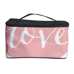 Love Valentines Heart Pink Cosmetic Storage Case by Alisyart