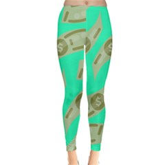 Money Dollar $ Sign Green Classic Winter Leggings by Alisyart