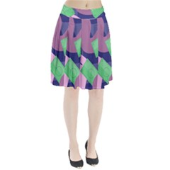 Money Dollar Green Purple Pink Pleated Skirt
