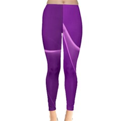 Purple Line Leggings  by Alisyart