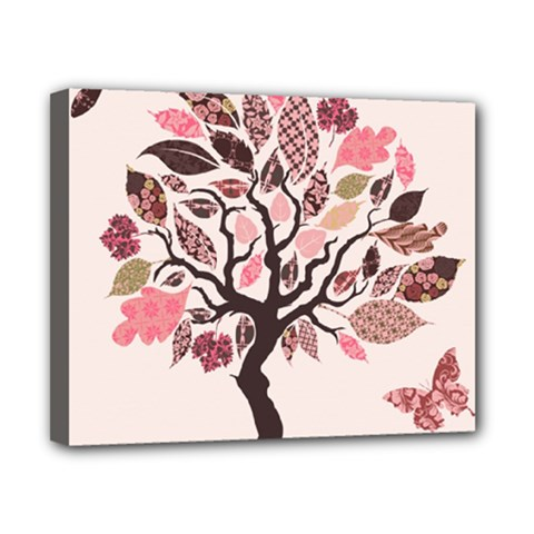 Tree Butterfly Insect Leaf Pink Canvas 10  X 8  by Alisyart