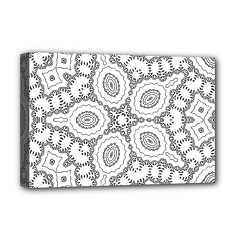 Scope Random Black White Deluxe Canvas 18  X 12   by Alisyart
