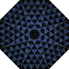 Triangle3 Black Marble & Blue Stone Straight Umbrella by trendistuff
