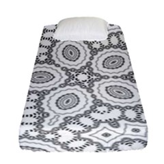Scope Random Black White Fitted Sheet (single Size)