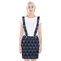 Triangle3 Black Marble & Blue Stone Braces Suspender Skirt by trendistuff