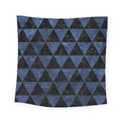 Triangle3 Black Marble & Blue Stone Square Tapestry (small) by trendistuff