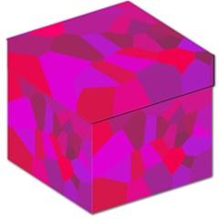 Voronoi Pink Purple Storage Stool 12   by Alisyart