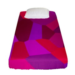 Voronoi Pink Purple Fitted Sheet (single Size)