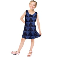 Triangle2 Black Marble & Blue Stone Kids  Tunic Dress by trendistuff