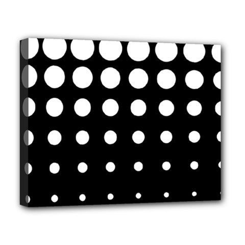 Circle Masks White Black Deluxe Canvas 20  X 16   by Alisyart