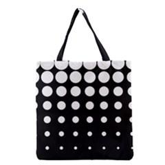 Circle Masks White Black Grocery Tote Bag by Alisyart