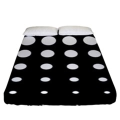 Circle Masks White Black Fitted Sheet (king Size) by Alisyart
