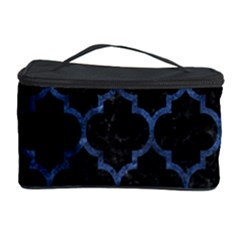 Tile1 Black Marble & Blue Stone Cosmetic Storage Case by trendistuff