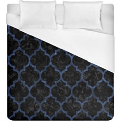 Tile1 Black Marble & Blue Stone Duvet Cover (king Size) by trendistuff